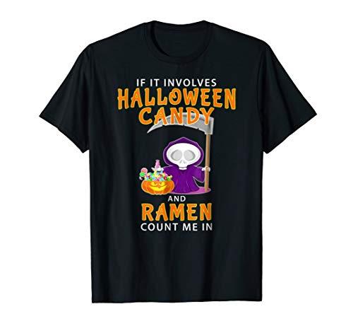 Halloween Ramen T-shirt Funny Asian Japanese Noodles Gift -