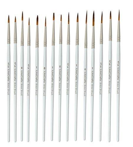 Extra Fine Detail Modelling Paint Brush Set - Set of 15