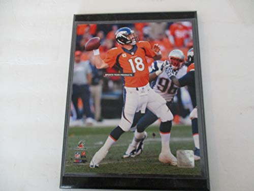 "DENVER BRONCOS 2014 PHOTO FILE FEATURING PEYTON MANNING *AFC CHAMPIONS* ACTION PHOTO MOUNTED ON A 9"" X 12"" BLACK MARBLE PLAQUE"