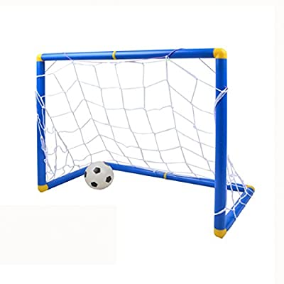RuiyiF Soccer Goal Net for Kids Toddlers Indoor Outdoor Backyard Includes Goal with Net Mini Soccer Ball Hand Pump