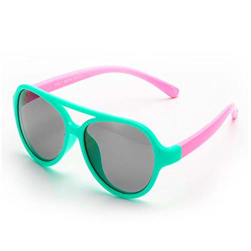Sunglasses for Girls Ages 3-6 Polarized Sport Wayfarer Sun Glasses Mint - Sunglasses Mint Wayfarer