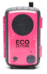 Eco Extreme 3.5mm Aux Waterproof Portable Speaker Case (Pink)