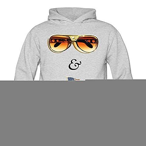 XJBD Women's Elvis & Nixon Geek Sweatshirt Ash Size S