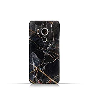HTC Butterfly 3 TPU Silicone Case With Dark Grey Marble Texture