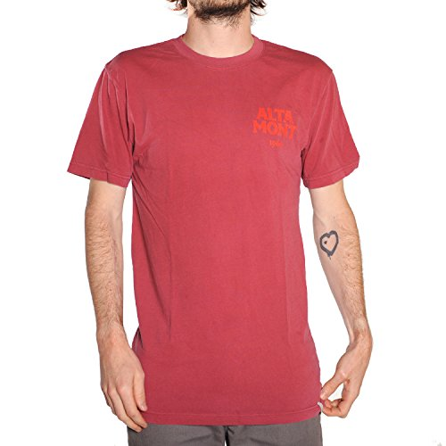 Altamont Tee (ALTAMONT Snake (Deep Red) T-Shirt-XLarge)