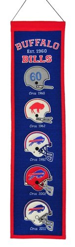 Winning Streak Buffalo Bills Official NFL 8 inch x 32 inch Heritage Wool Banner Flag by 440296 by Winning Streak