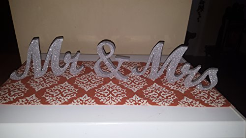 Styrofoam Mr & Mrs 6 Inches Tall Table Decor Painted and Glittered