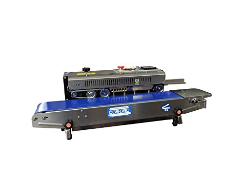 CBS-880 Stainless Steel Horizonal Continuous Band Sealer w/ 8mm Seal