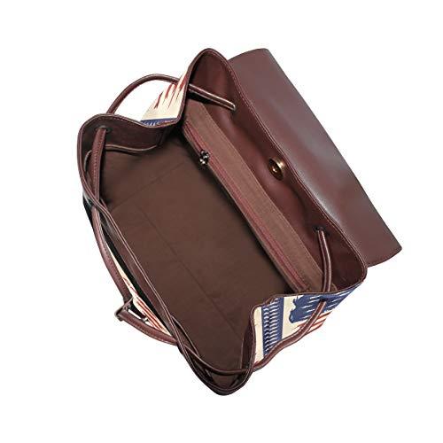 Havssköldpaddor ryggsäck handväska mode PU-läder ryggsäck ledig ryggsäck för kvinnor