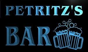 w112167-b PETRITZ'S Name Home Bar Pub Beer Mugs Cheers Neon Light Sign