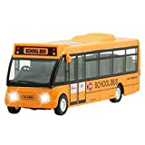 6'' School Bus City Bus Toy for Kids, Play Vehicles Electric Truck Little People Toys with Light, Educational Musical Toy for Children