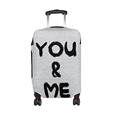 5a516a381ddc chic DEYYA You And Me Spandex Travel Luggage Cover Baggage Suitcase ...