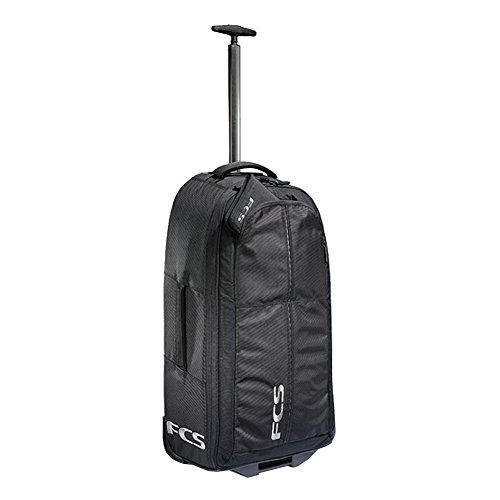 FCS Departure Backpack / Luggage - Black - Wheels, Extendable Handle and Backpack straps. by FCS