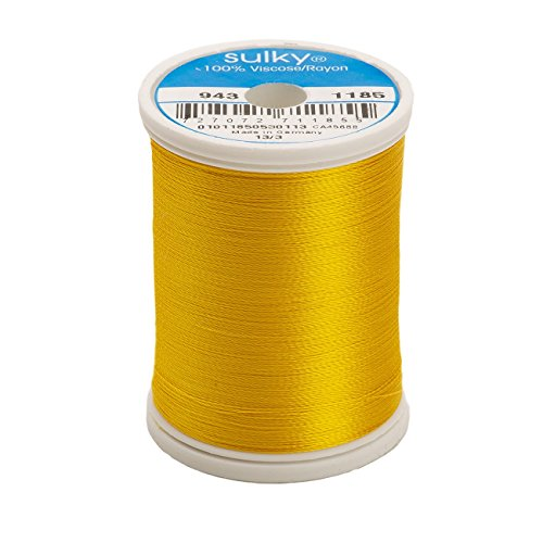 (Sulky Of America 268d 40wt 2-Ply Rayon Thread, 850 yd, Golden Yellow)