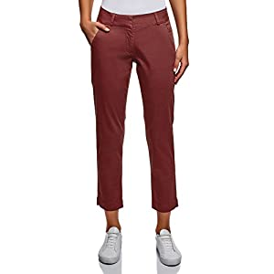 oodji Ultra Donna Pantaloni Chino in Cotone