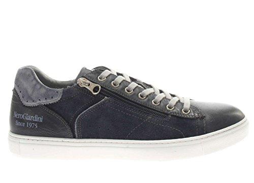 Nero Giardini Sneaker in Pelle e camoscio Uomo Blu