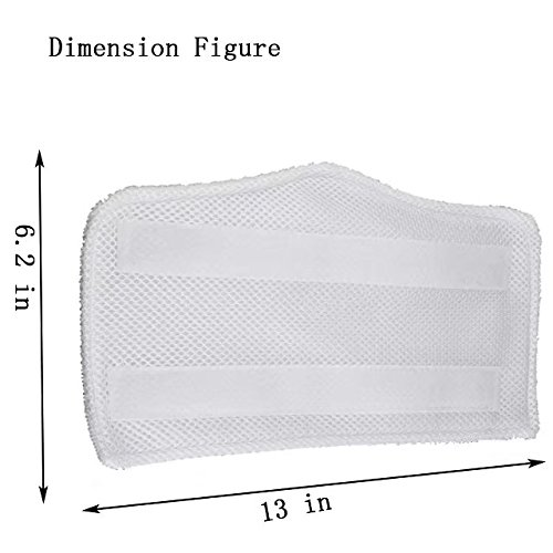 Microfiber Replacement Pads for Shark Euro-Pro Steam Mop S3250 S3101 S3111 S1001 Cleaning Pad 4Pcs