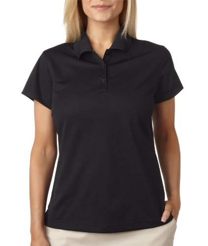 adidas Golf Womens Climacool Mesh Polo (A135) -Black/Whit -S