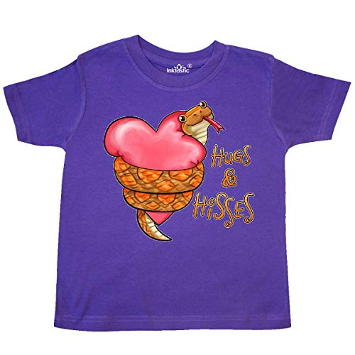 inktastic - Hugs and Hisses- Cute Snake and Toddler T-Shirt 4T Purple 31ae9