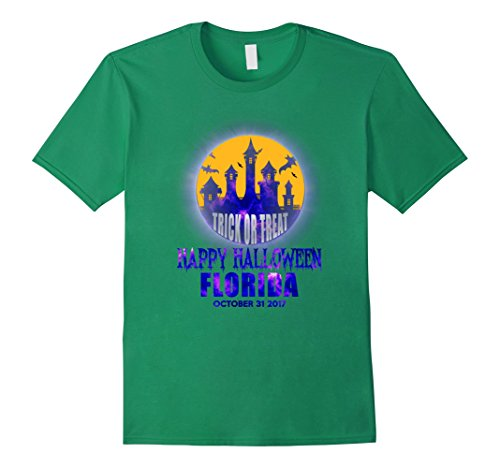Mens Happy Halloween Florida 2017 T Shirt 2XL Kelly Green
