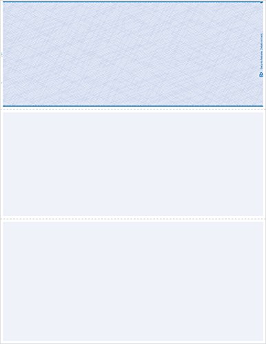 - 500 Blank Check Paper Blue Check on Top Guaranteed Compatibility for Quicken & Quickbooks