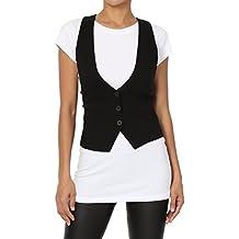 TheMogan Women's Adjustable Strap Racerback Vest Waistcoat