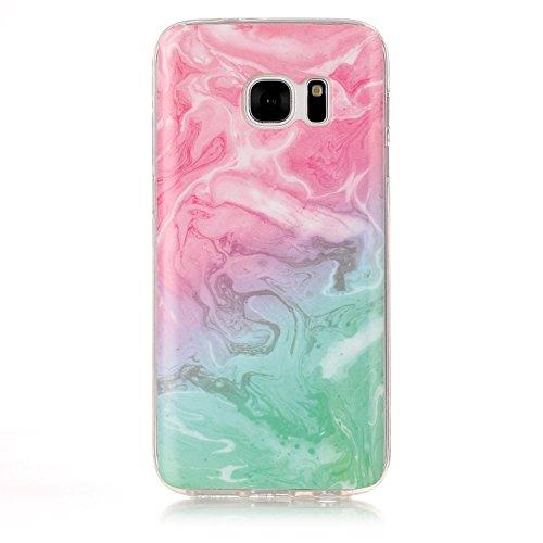 inShang funda para Samsung Galaxy S8 funda del teléfono móvil, anti deslizamiento, ultra delgado y ligero, Estuche, Cubierta, carcasa suave hecho en el material de la TPU, cómodo Case Cover for Galaxy Pink green