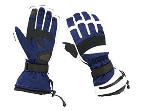White Mens Snowboard Glove (Hugger Glove Company Men's Textile Gauntlet Snowmobile Gloves (Extra Large, White/Blue))