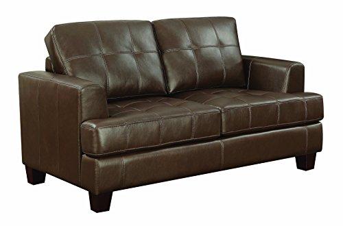 (Coaster Home Furnishings 504079 Coaster Home Furnishsings Samuel Upholstered Loveseat Sleeper Dark Brown,)