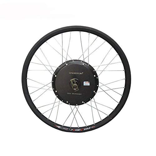 "QSMOTOR Electric Bike Conversion Kit E-Bicycle Spoke Hub Motor Rated Power 1000W Peak Power 2000w 205 35H V1 135mm Dropout Brushelss dc hub Motor Including 26"" Rear Wheel Rim"