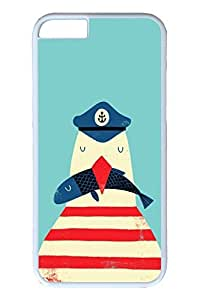 Brian114 6 plus Case, iPhone 6 plus Case - Anti-Scratch Case Bumper for iPhone 6 Plus Captain Penguin Slim Fit Case for iPhone 6 Plus 5.5 Inches