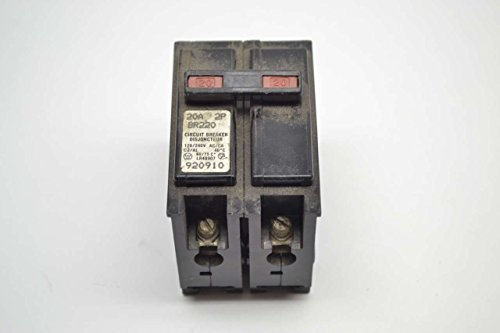 WESTINGHOUSE BR220 POLE TYPE BR 2P 20A AMP 120/240V-AC CIRCUIT BREAKER (20a 2p Circuit Breaker)