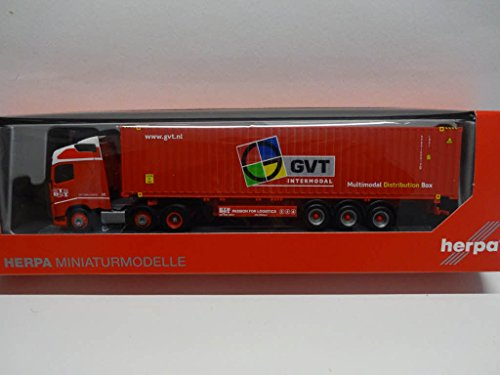 Herpa 307710 Volvo FH GL Container Saddle Pull GVT Miniature - Herpa Container