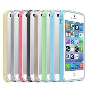 ZCL-Ultra delgada Pc capítulo de parachoques suave del caso para el iPhone 5s / 5 (varios colores)