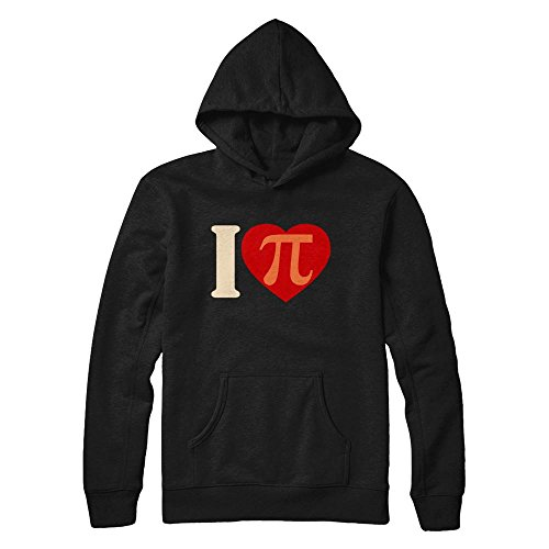 (Teely Shop Men's Woman's I Love PI Vintage Retro Infinity Math PI Day Gildan - Pullover Hoodie/Black/4XL)
