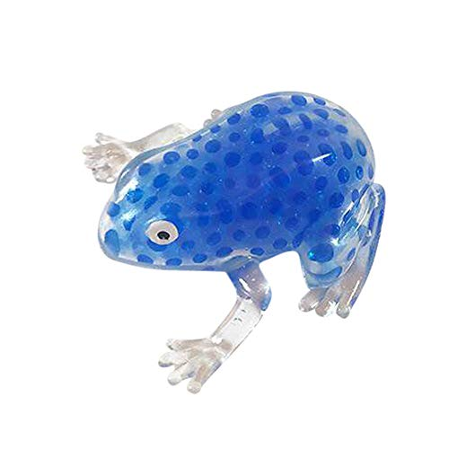 CMrtew ❤️ 2018 Funny Gift Antistress Toy for Child Baby Novelty 6cm/8cm Bead Stress Ball Sticky Squeeze Frogs Squeezing Stress Relief Toy (Blue, 683cm)