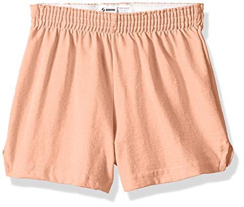 - Soffe MJ Big Girls Basic Cheer Short, Bleached Coral, Medium