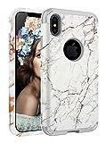 AIKIN iPhone Xs Max Case Marble Design Slim 3 in 1 Hybrid Drop