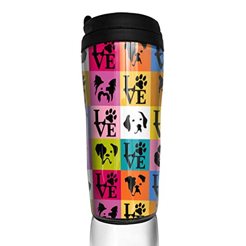 - Funny Dog Faces Pop Art Fashion Insulated Traveler Coffee Mug Tumbler Stainless Steel Coffee Cup 12 Oz