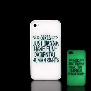 WQQ Funda Trasera - Diseño Especial/Fosforescente - para iPhone 5/iPhone 5S Plástico )