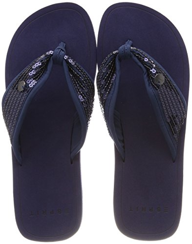 ESPRIT Damen Diva Sequins Pantoletten Blau (Navy)