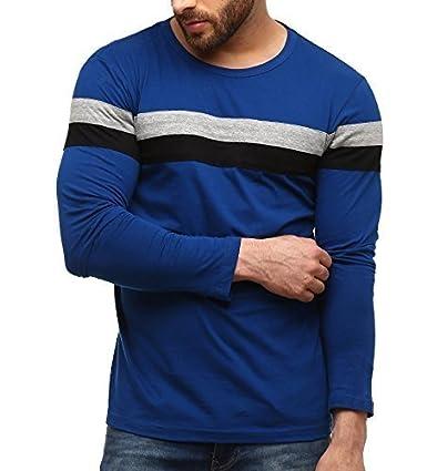 GRITSTONES Men's Plain Slim Fit T-Shirt Men's T-Shirts & Polos at amazon