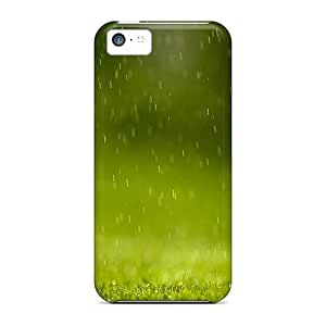 Excellent Design Green Rain Phone Case For Iphone 5c Premium Tpu Case