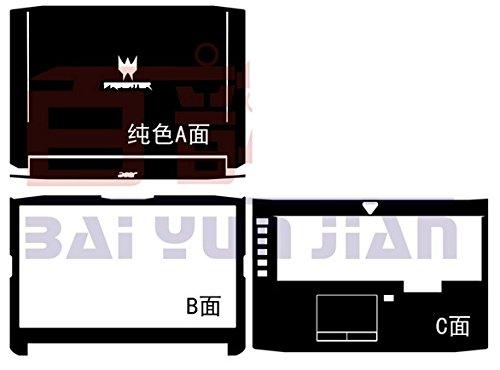 Laptop Black Matte vinyl Skin stickers Cover guard for Acer Predator 17 G9-791 G9-792 G9-793 G9 791 792 793 17.3-inch