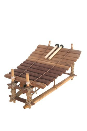 Classic Heartwood Gyil with Mallets - 12 Key C Pentatonic - Ghana Marimba Xylophone Balafon from Ghana by Africa Heartwood Project