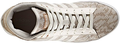 Adidas Women's Cloudfoam Daily QT Mid Shoes (White, 7 B(M) US)