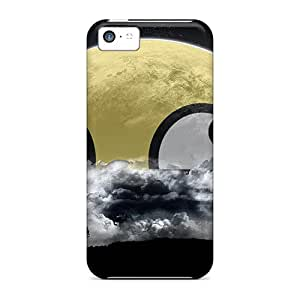 Durable Peeking Over The Clouds Back Cases/covers For Iphone 5c