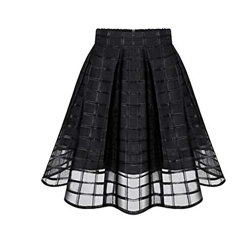 Welcome Phrases Mini - LISTHA Tulle Skirt for Women Organza Skirts High Waist Short Mini Pleated Shirt Black