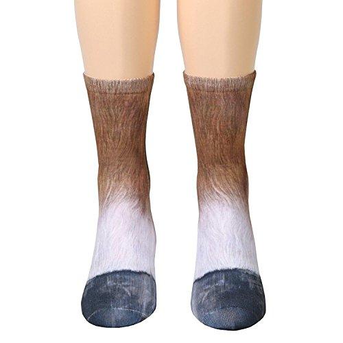 3D Socks Unisex Adult Animal Paw Crew
