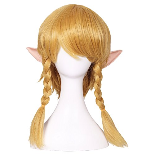 ColorGround Long Golden Braided Cosplay Wig with ELF Ears (Ears Cosplay Link)